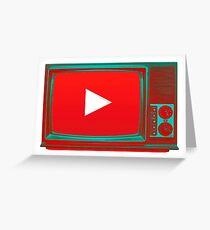 Youtube vintage tv Greeting Card