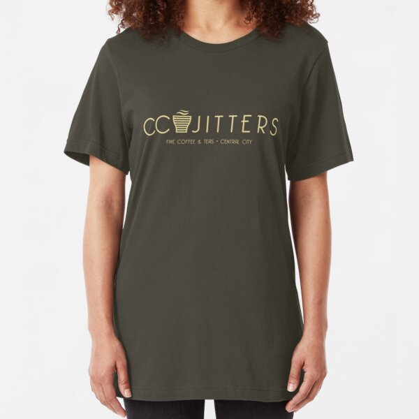 CC Jitters - cafe Slim Fit T-Shirt