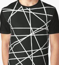 White Lattice Graphic T-Shirt
