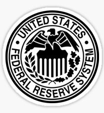 The Federal Reserve logo Sticker