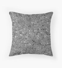 irregular shape silver pattern Throw Pillow