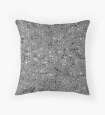 irregular shape silver pattern Throw Pillow
