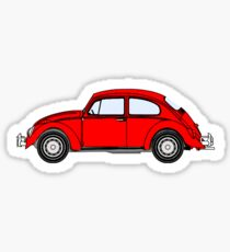 VW, Volkswagen, Beetle, Bug, Motor, Car, RED Sticker