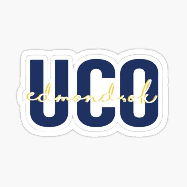 University of Central Oklahoma Blue Leggings All Over Logo UCO