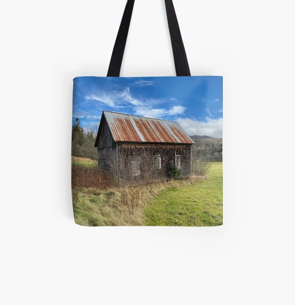 Old Barn in New Brunswick All Over Print Tote Bag