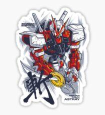 Astray Red Frame Sticker