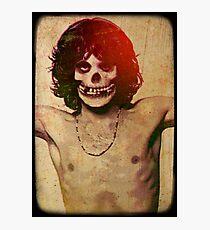 THE MISFITS JIM MORRISON Mash Up (Vintage/black) Photographic Print