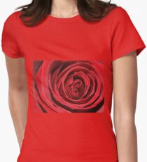 my love is like a red, red rose Women's Fitted T-Shirt