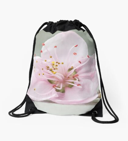 Peace begins with a smile Drawstring Bag