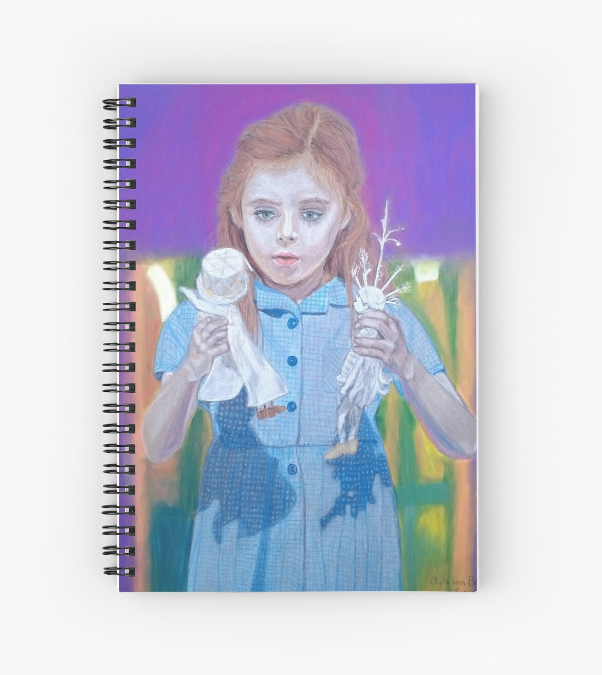 Quot Once Upon A Time Matilda Dolls Quot Spiral Notebooks By