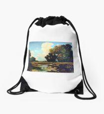 hot summer Drawstring Bag