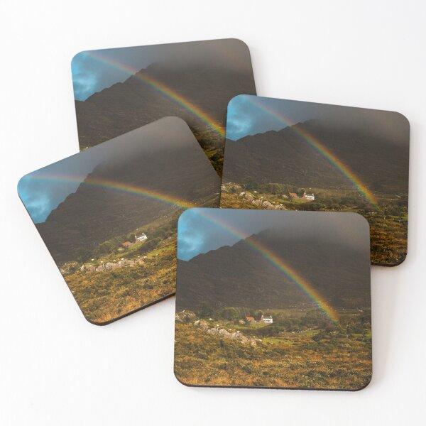 Beara Rainbow Cottage Hill IRELAND  Coasters (Set of 4)