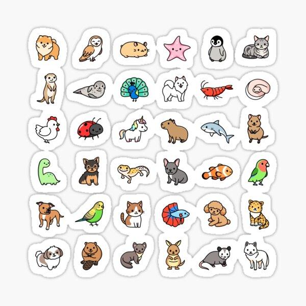 "*choose large in sticker!"" Mega Cute Animals #3 Sticker"