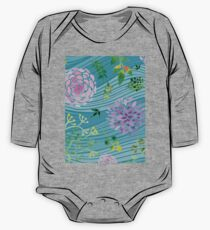 Floral Waves Spring Watercolor Flowers Leaves Kids Clothes