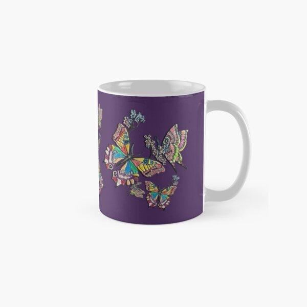 D1G1TAL-M00DZ ~ FOLKART ~ Crayon Butterflies by tasmanianartist 05012021 Classic Mug