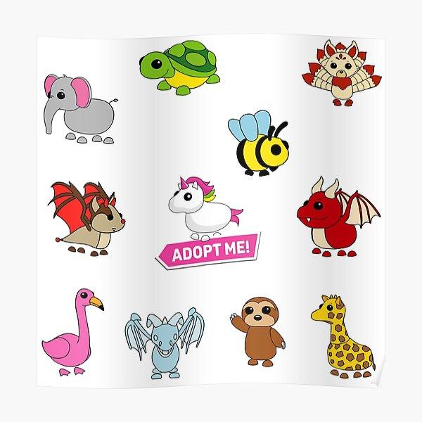 Adopt me pets set Poster