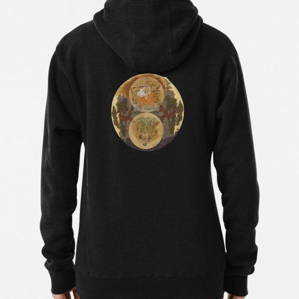 Yin Yang Coloured, Circular  Pullover Hoodie