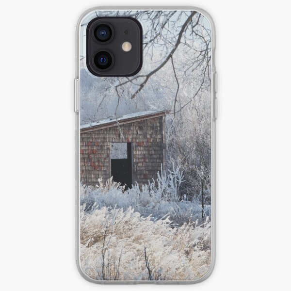 Winter Hoar Frost And Old Building iPhone Soft Case