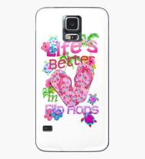 Das Leben ist besser in Flip-Flops Hülle & Klebefolie für Samsung Galaxy