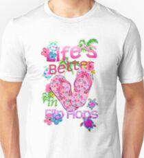 Das Leben ist besser in Flip-Flops Slim Fit T-Shirt