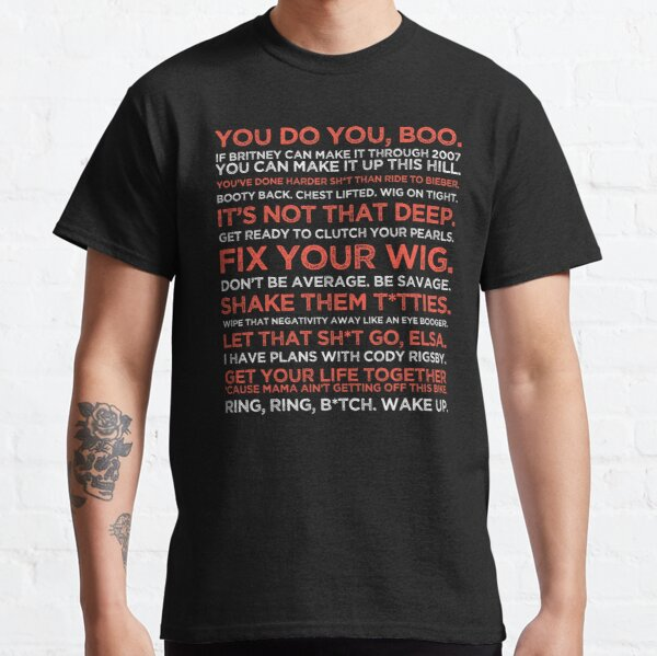 Cody Rigsby Motivational Quotes - Peloton Red & White Inspirational T-shirt classique