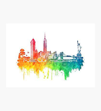 New York skyline color Photographic Print
