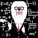English Sheepdog as Einstein by drawgood
