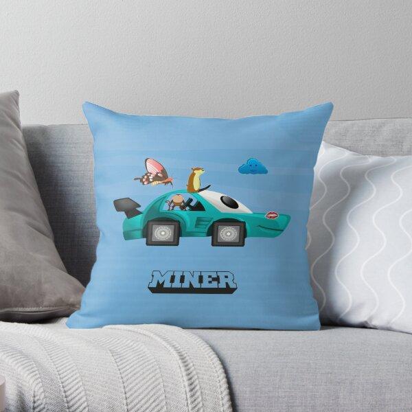 MINER / lianmachine Throw Pillow
