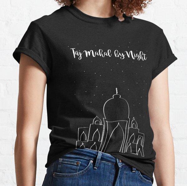 Taj Mahal de noche Camiseta clásica
