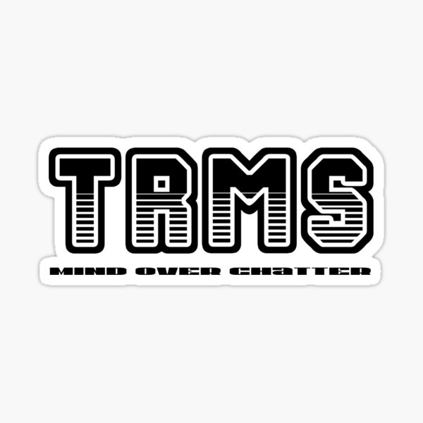 The Rachel Maddow Show - black graphic Sticker