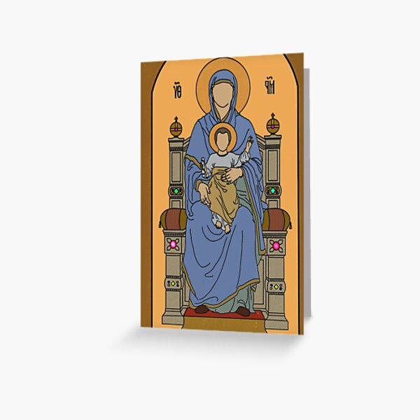 Holy Mary and the Christ Child Greeting Card