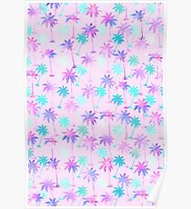 Palm tree pattern Poster