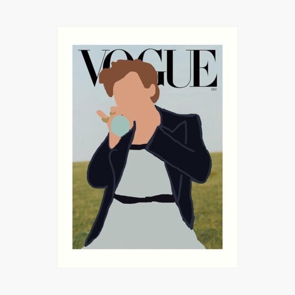 Harry Styles Vogue Dibujos animados Lámina artística