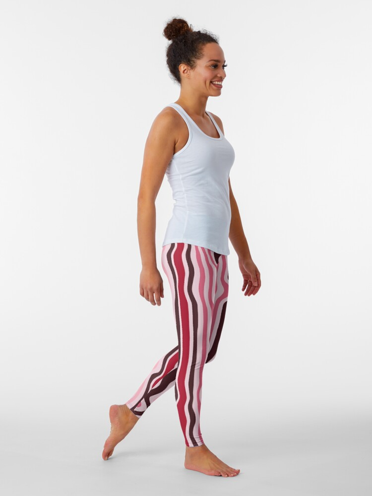 Alternate view of Curly-Stripes Pattern Leggings