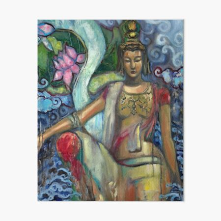 Quan Yin of Southern Sea Art Board Print
