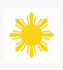 Philippinen Sonne Kunstdruck