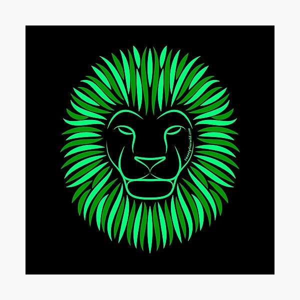 Wild Green Forest Lion | Twenty Four Wild Photographic Print