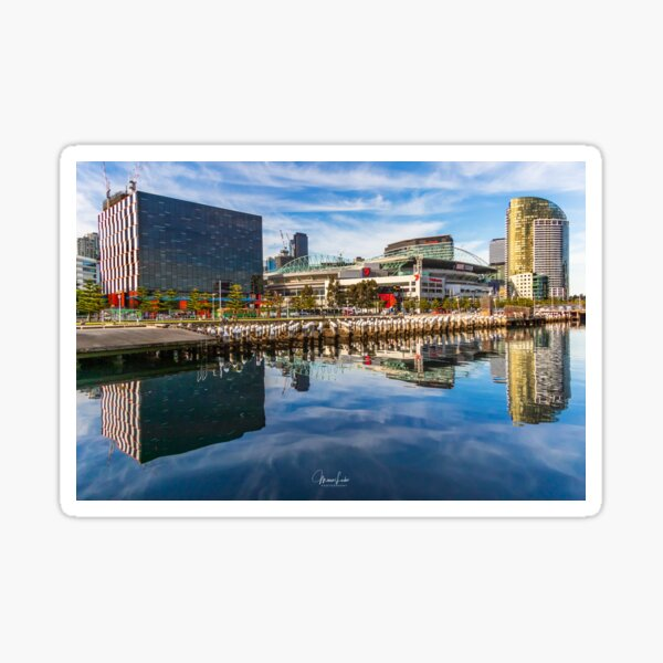 Reflections at Docklands Sticker
