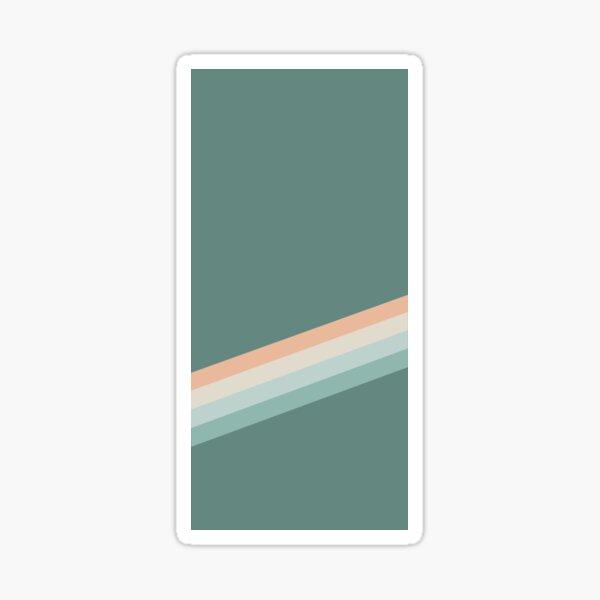 Retro Rainbow Stripes - Teal Sticker