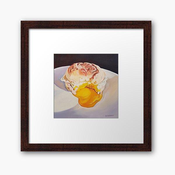 Egg Sandwich - food painting Framed Art Print
