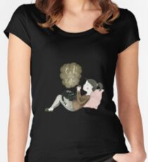 Cats and Coffee Women's Fitted Scoop T-Shirt