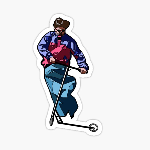 Oliver Tree Scooter Pro Sticker