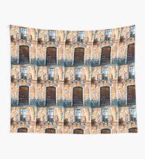 Sicilian Facade of Taormina Wall Tapestry