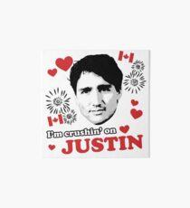 I'm Crushin' on Justin Trudeau Art Board