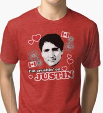 I'm Crushin' on Justin Trudeau Tri-blend T-Shirt