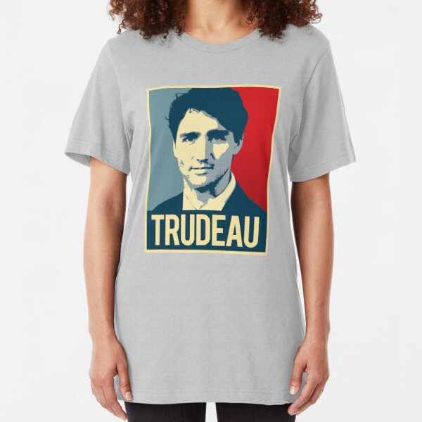 Trudeau Poster Art Slim Fit T-Shirt