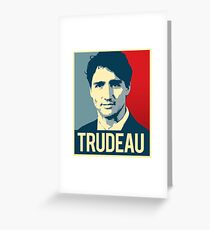 Trudeau Poster Art Greeting Card