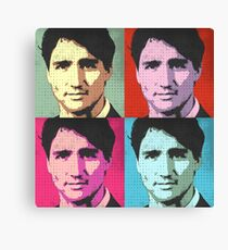 Justin Trudeau Pop Art Canvas Print