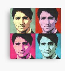 Justin Trudeau Pop Art Canvas Print