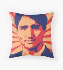 Justin Trudeau Propaganda Art Throw Pillow